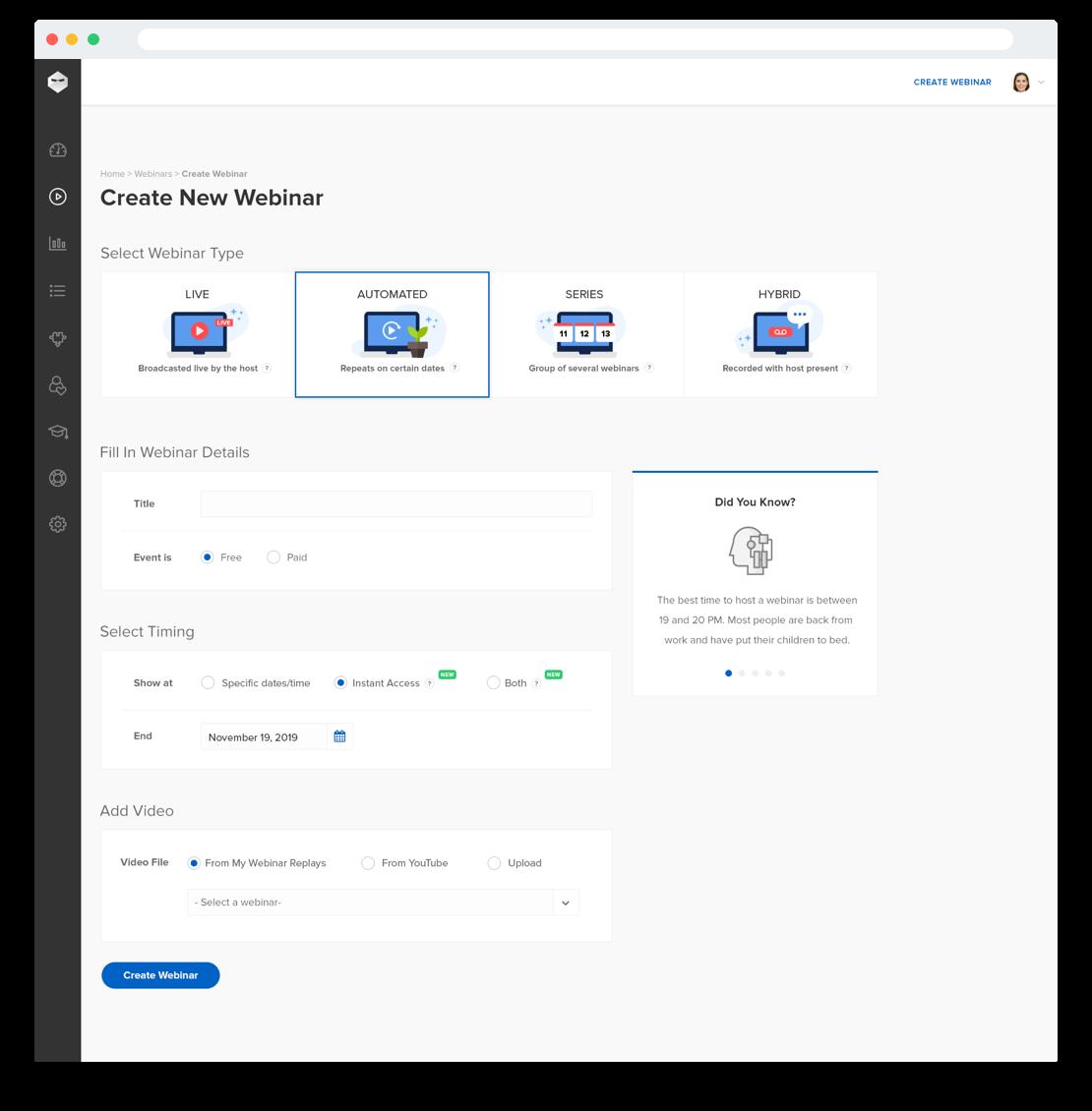 WebinarNinja Software - 5