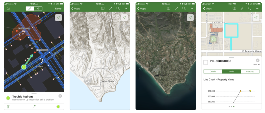Explorer for ArcGIS is a companion mobile app for iOS and Android devices, providing remote online / offline access to searchable maps