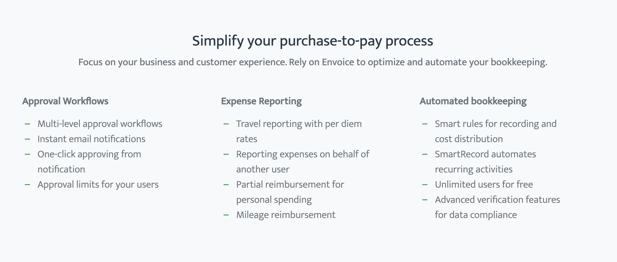 Manage your expenses and reporting with ease