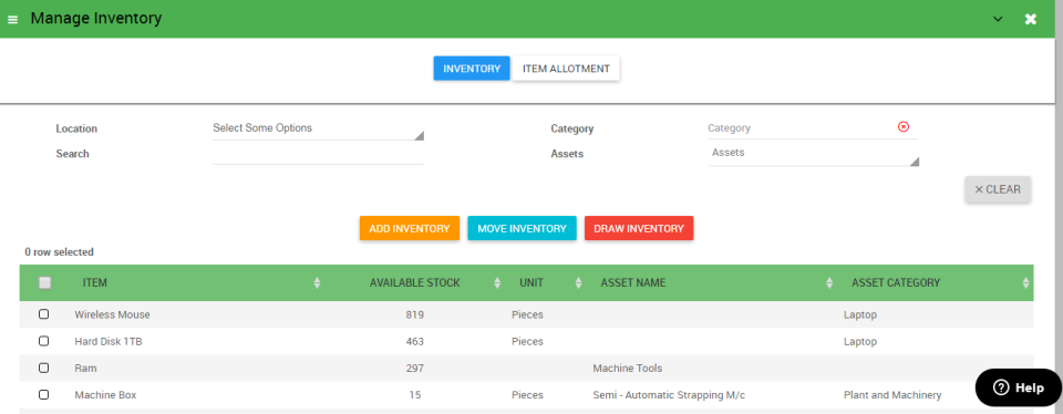 Asset Infinity Software - Manage_Inventory_AI