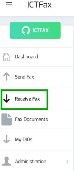 ICTFAX receive fax