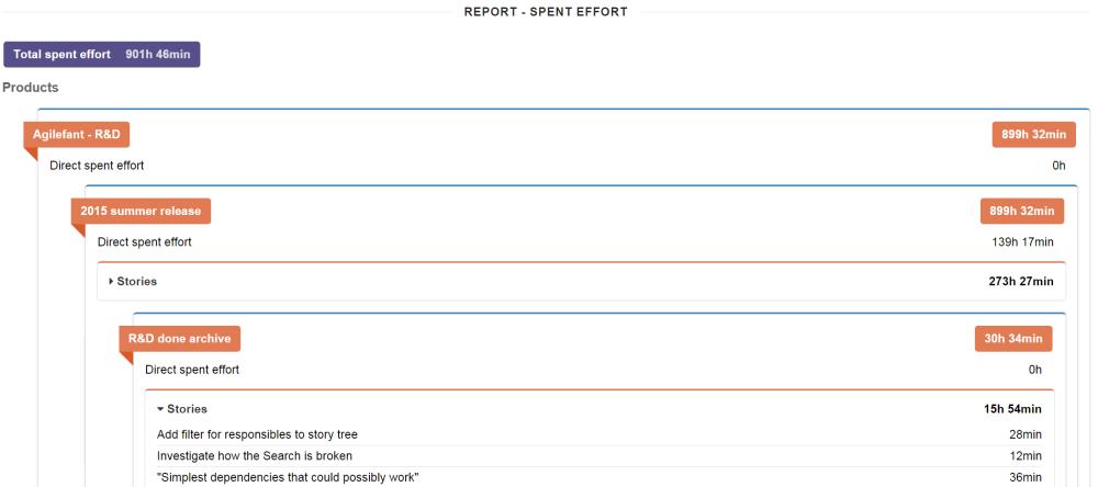 Advanced reporting tool