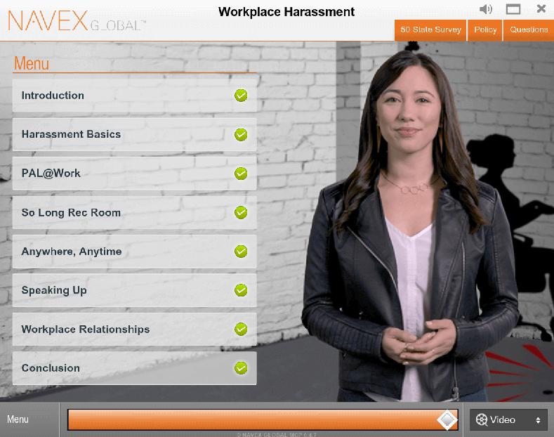 NavexGlobal Software - NAVEX Global training screenshot