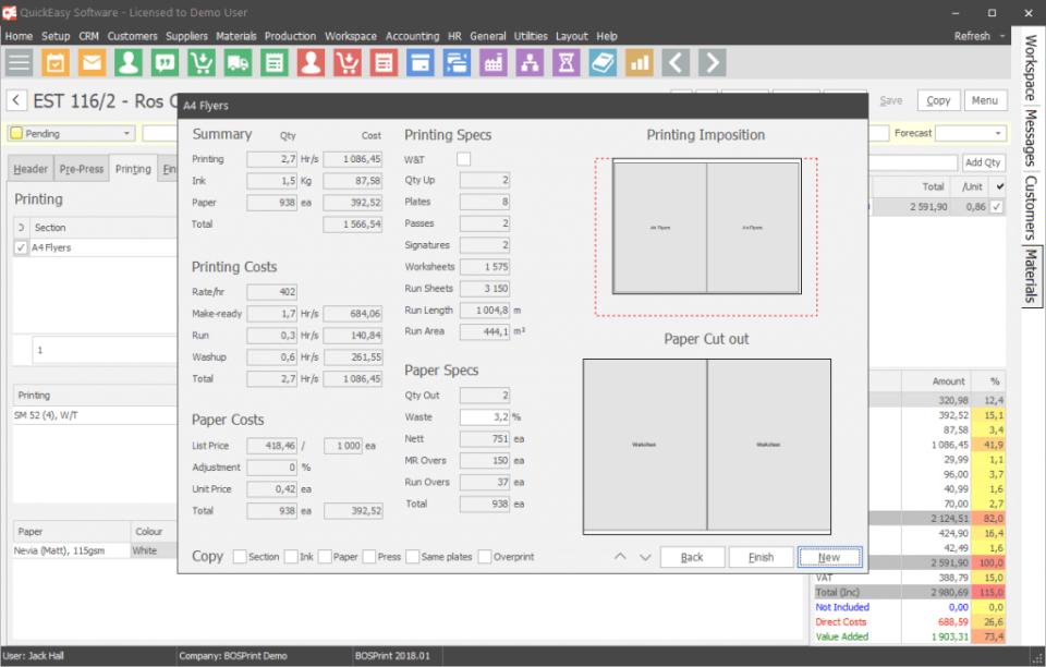 BOSPrint Software - 1