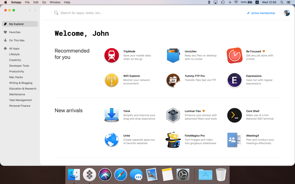 SetApp application explorer