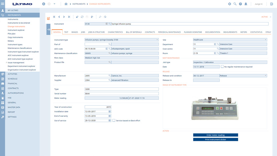 Safety and medical management dashboard for healthcare industries