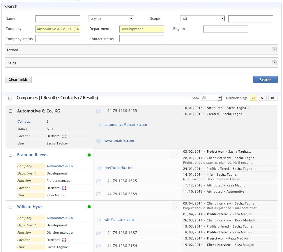 Unatrix Software - Customer relationship management