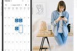 Marketing 360 screenshot: Fully integrated calendar.
