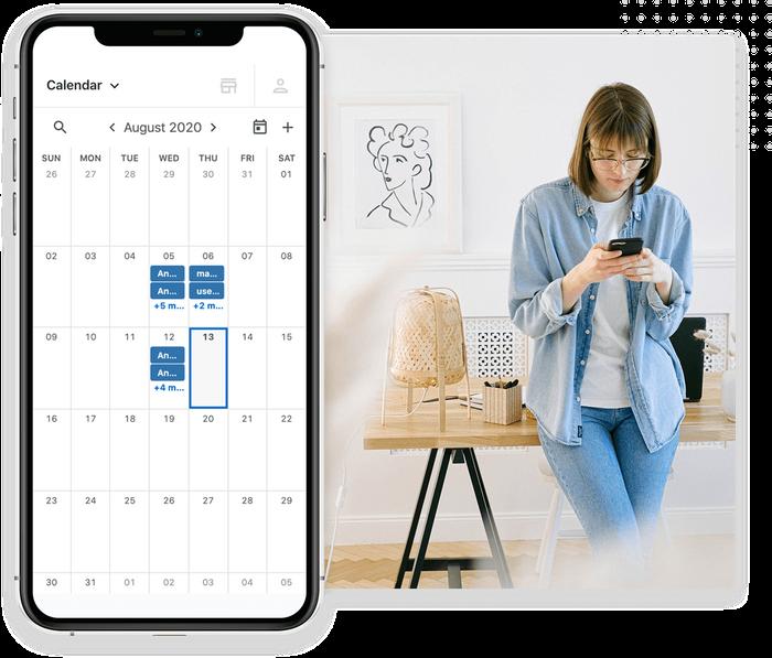 Marketing 360 Software - Fully integrated calendar.