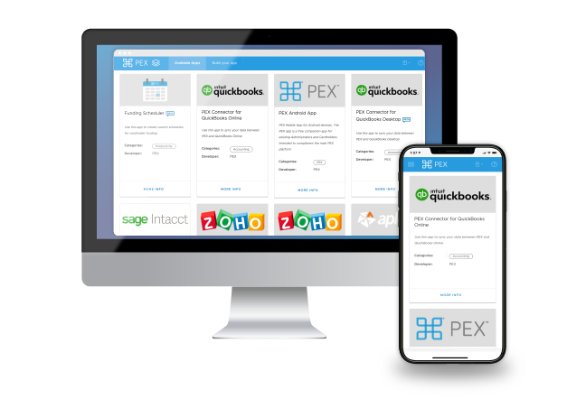 The PEX Marketplace allows you to integrate your employee spend data with your accounting software
