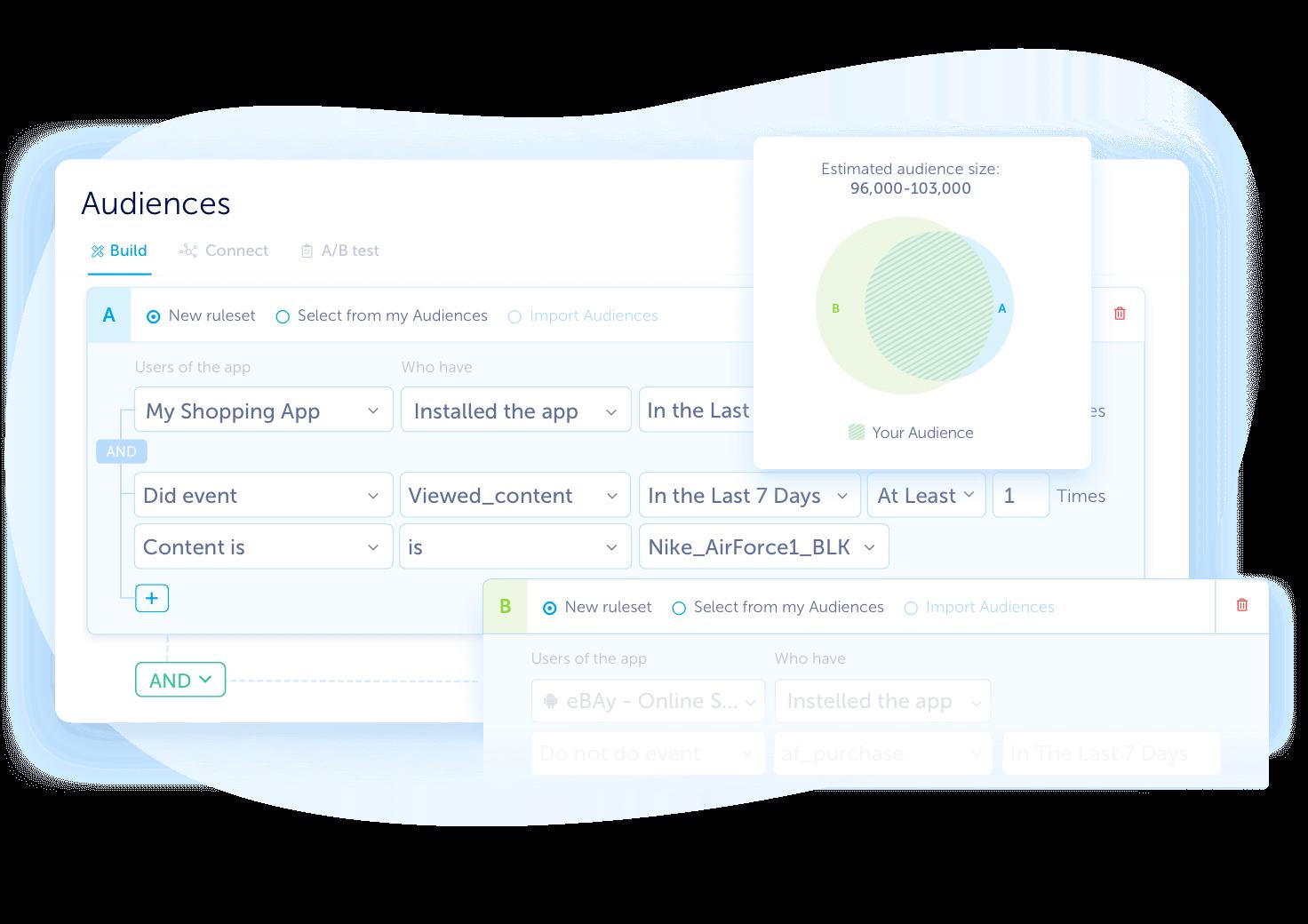 AppsFlyer audience segmentation