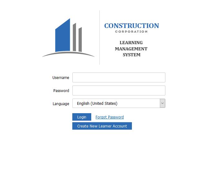 Customizable login in page with unique URL.