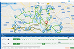 Abivin vRoute screenshot: Users can track driver locations and manage routes through the interactive map