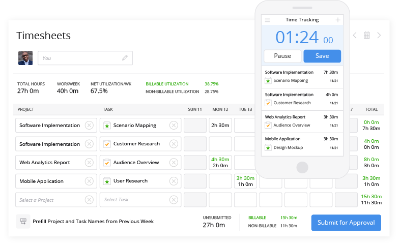 Mavenlink Software - Time Tracking and mobile