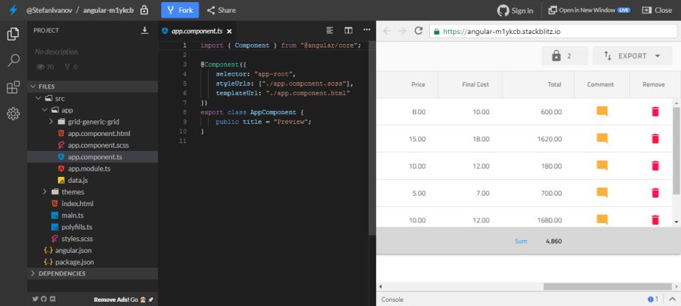 Indigo.Design generated codes