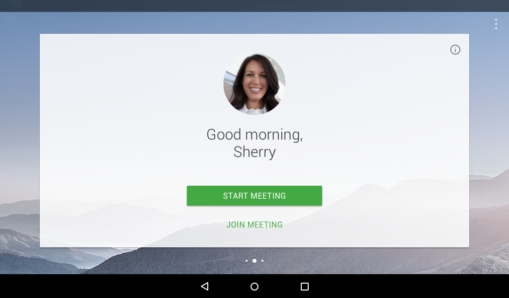 Cisco Webex screenshot: Users can initiate and join meetings
