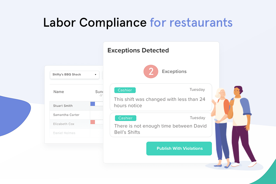 7shifts Software - Be in compliance with labor standards