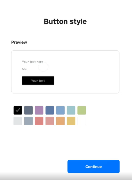 Square Online Checkout button style
