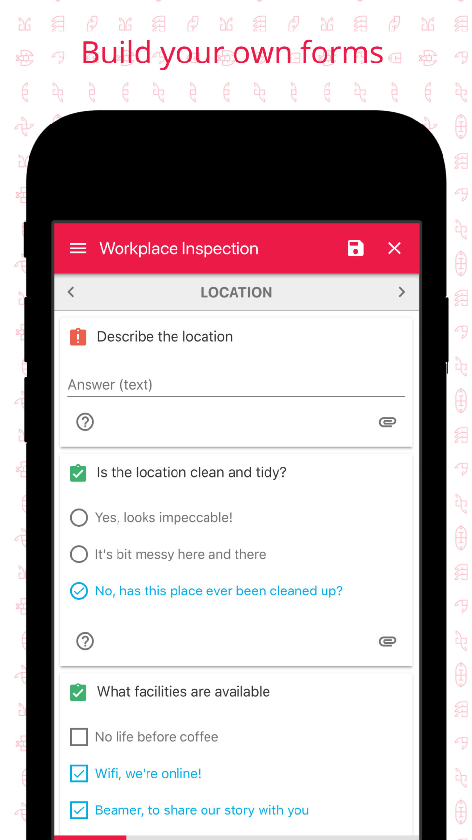 Build custom forms, or Micro-apps, to capture data in the field