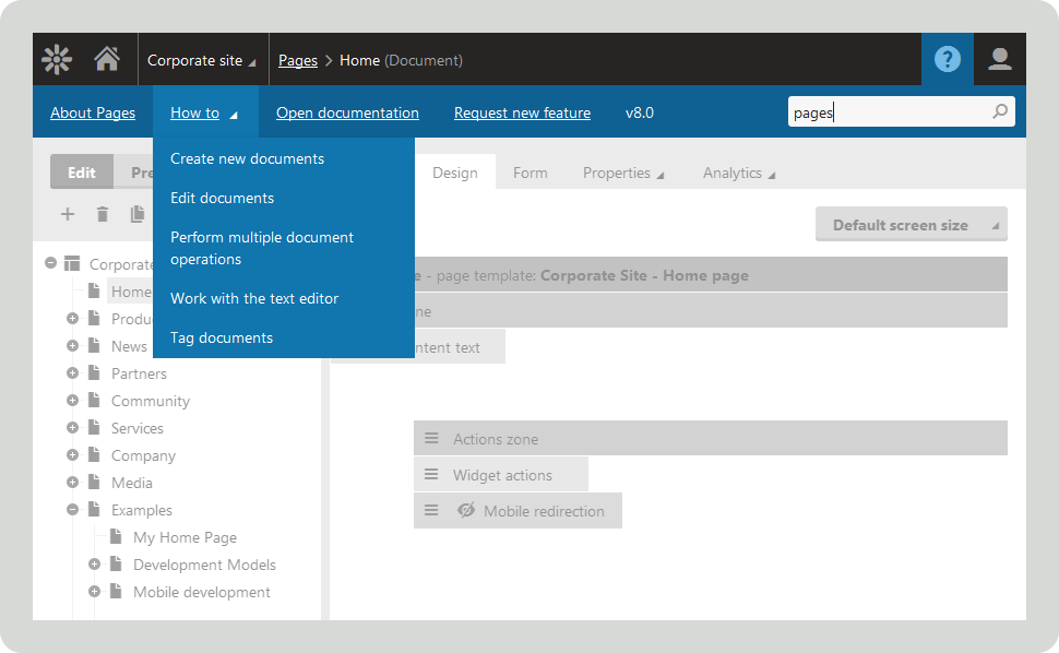 Easy access to Xperience's help database straight off the dashboard