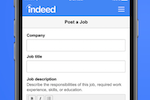 Indeed screenshot: Post jobs directly on Indeed or through the company's career site or ATS