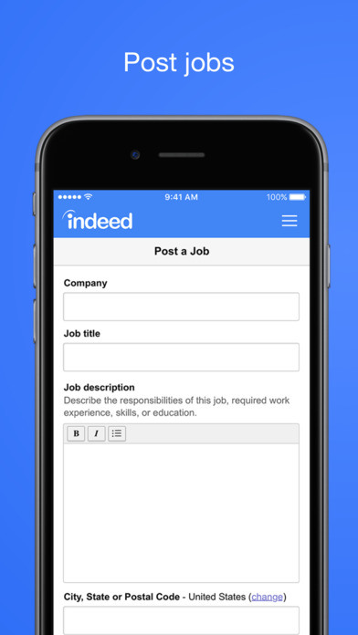 Post jobs directly on Indeed or through the company's career site or ATS