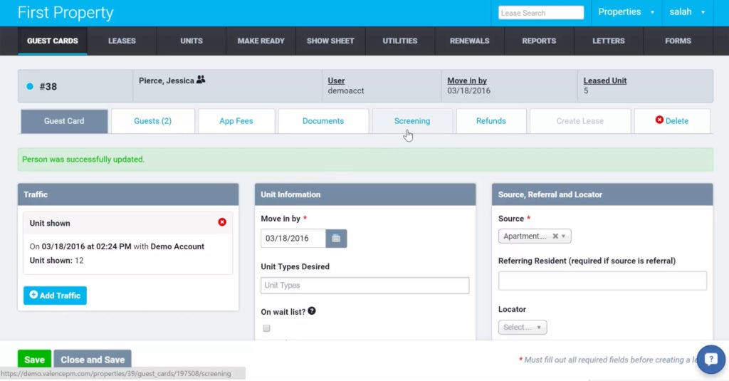 ValencePM Software - Property details
