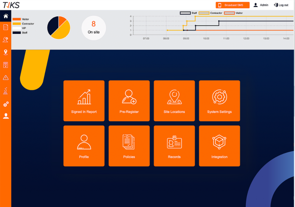 imple to use Dashboard that can be customized to fit your business's requirements and workflows. Manage your visitors, staff, their work and documents everything from a central dashboard.