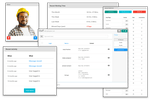 ManageMart screenshot: The employee management feature allows users to track employee expenses and set up permissions for all employees