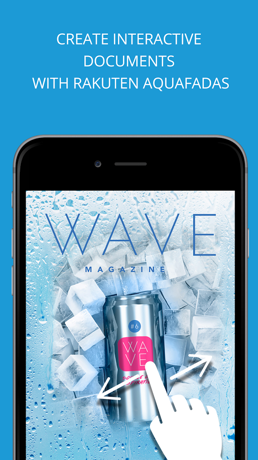 Add interactivity to content using Aquafadas' various features such as video, slideshows, quizzes, forms, and more