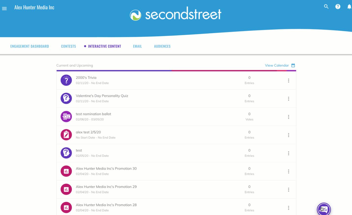 Second Street quiz creation