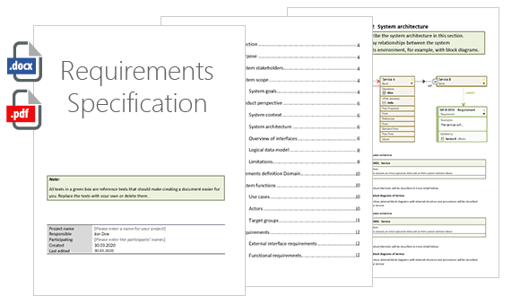 objectiF RM requirements specification document