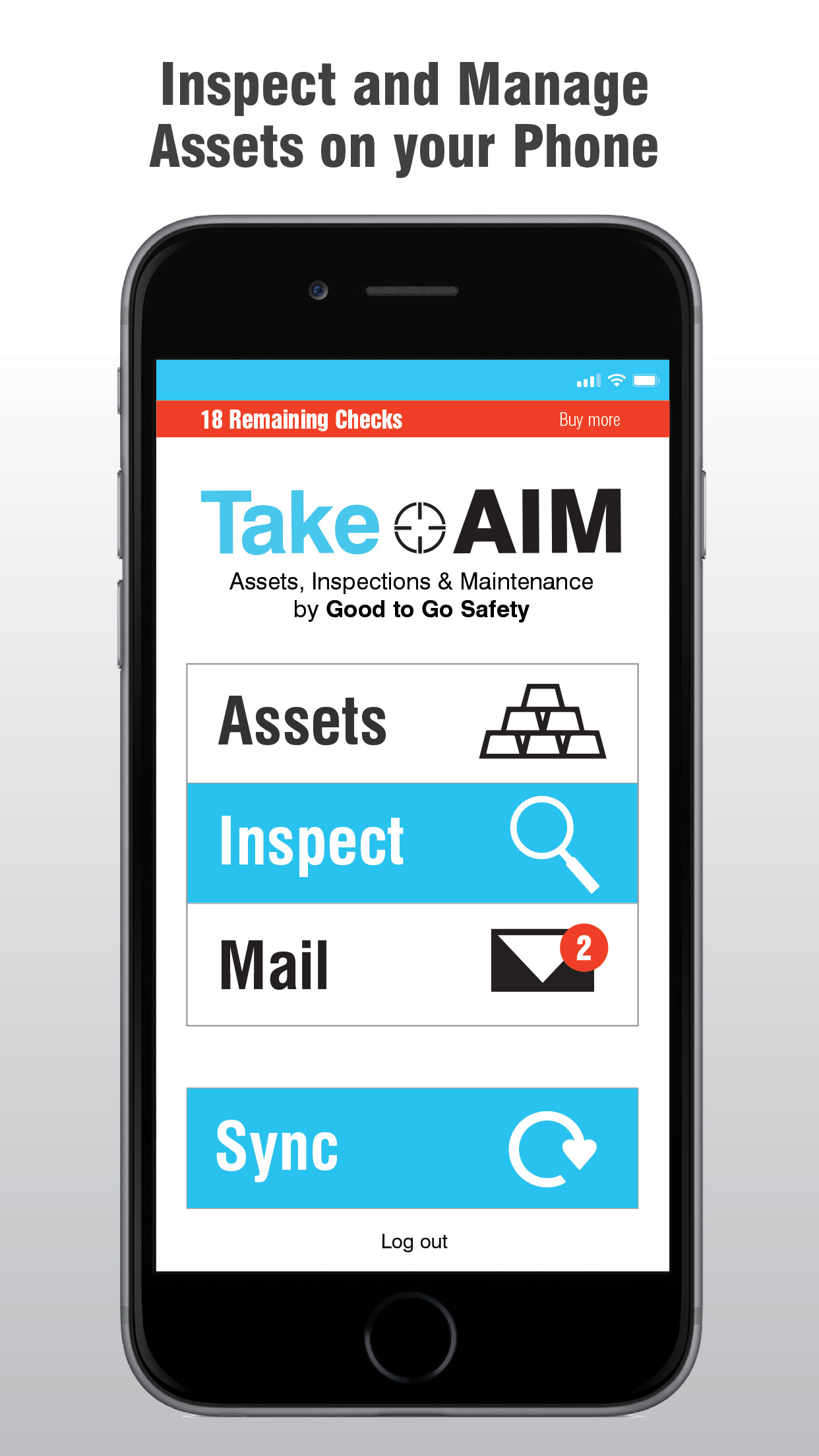 Inspect and manage assets on your mobile phone or tablet