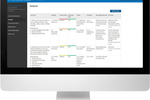 VelocityEHS screenshot: VelocityEHS's job safety analysis includes color-coded initial and residual risk assessments