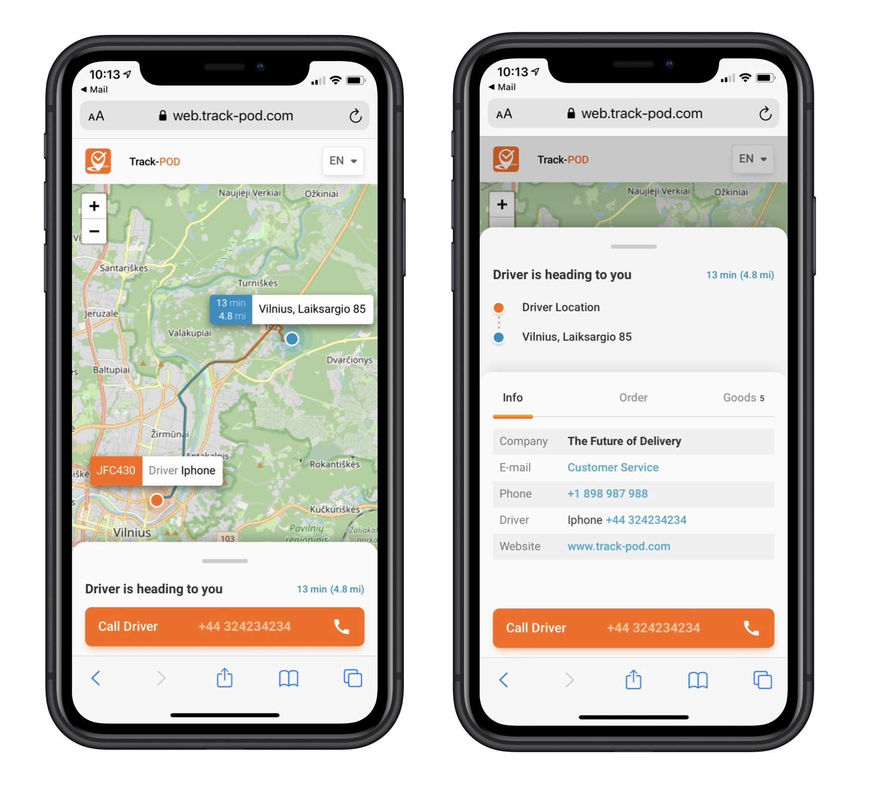 Track-POD Software - Delivery Live Tracking with ETA for your customers