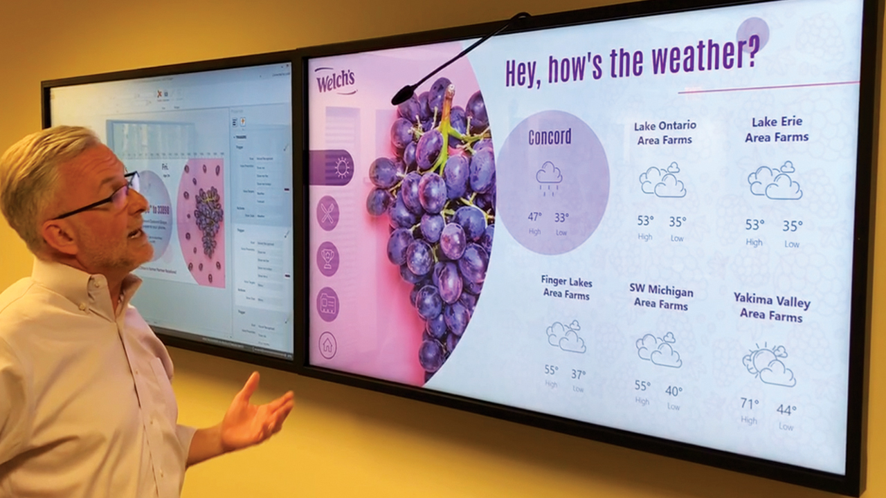 Our digital signage software has a Voice Recognizer Widget that turns any screen into a hands-free interactive sign. Viewers can walk up to any display, ask for the material they want, and then immediately see that content on screen.