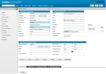 Yardi Voyager Software - Yardi Voyager lead management