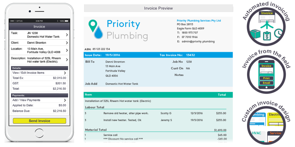AroFlo Software - Automated invoices