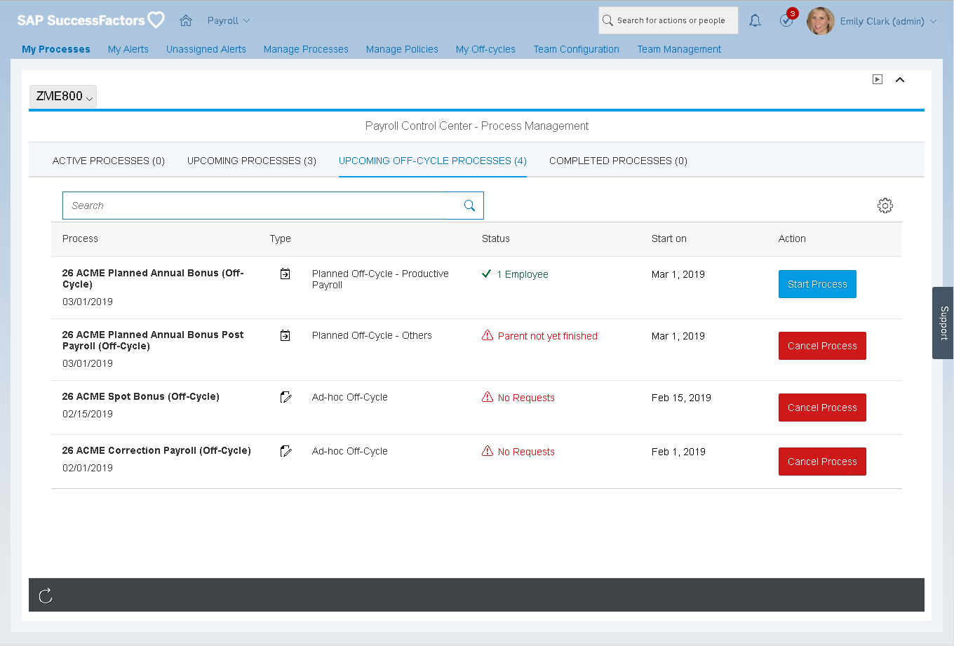 SAP SuccessFactors HCM Suite screenshot