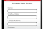 Acromobile screenshot: Acromobile contact forms