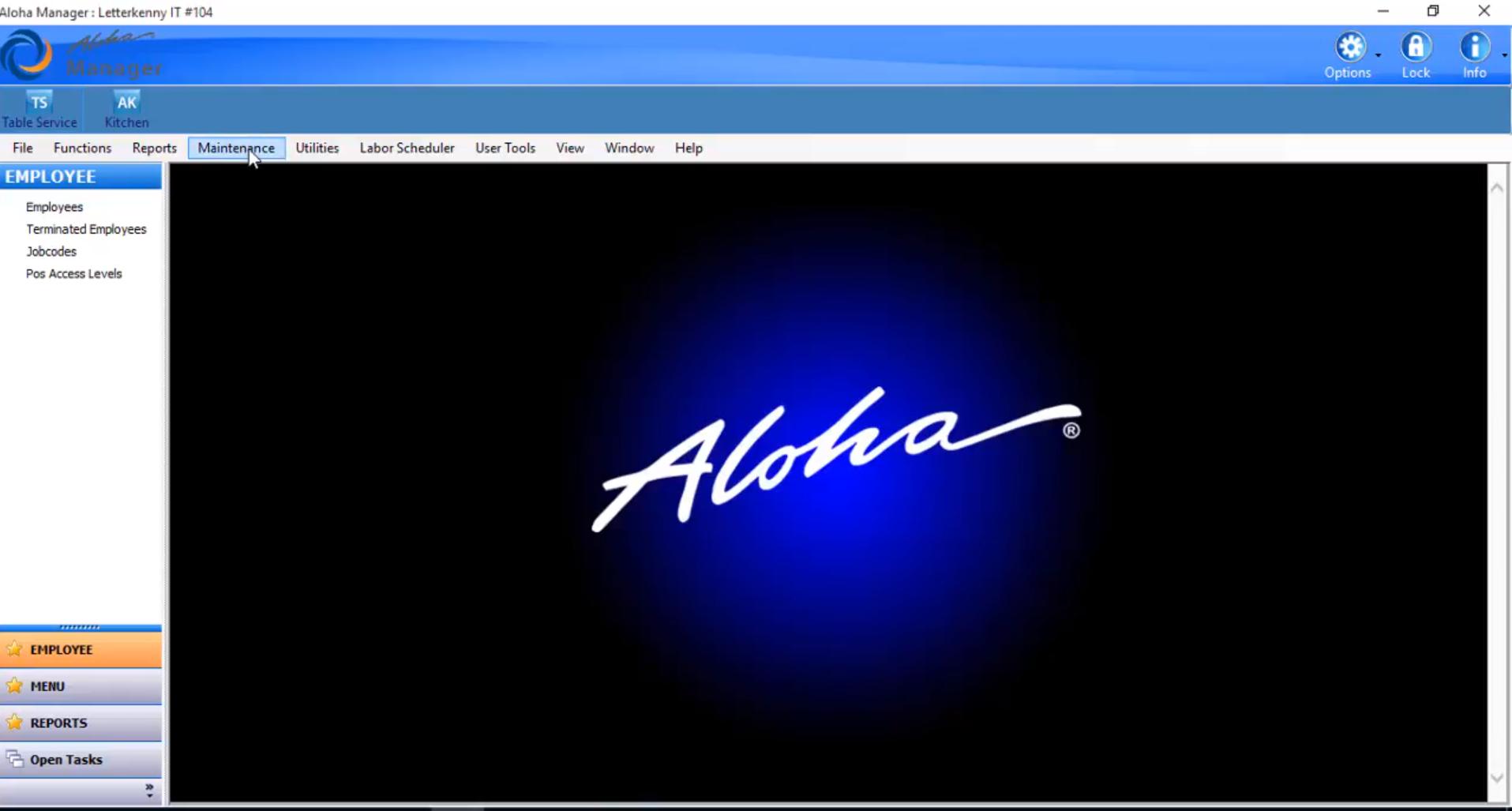 Aloha EPOS maintenance