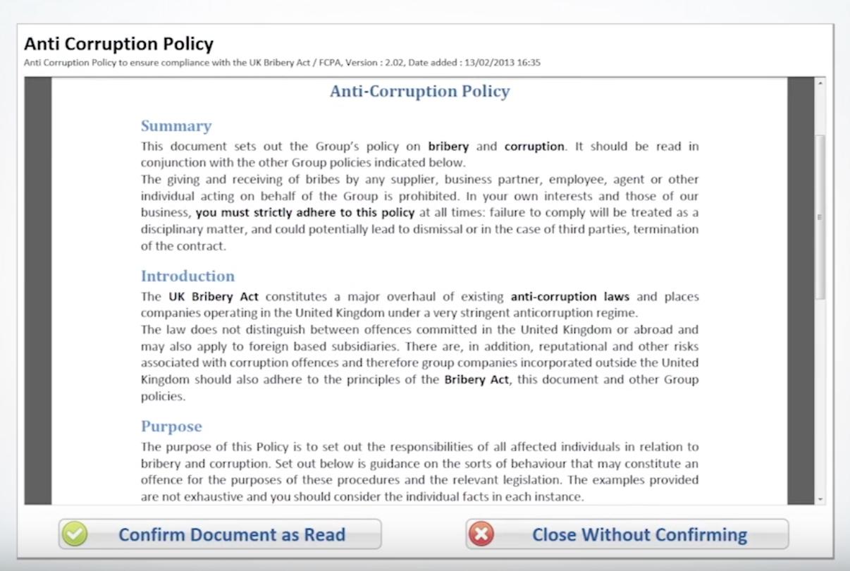 PolicyHub attestation screenshot