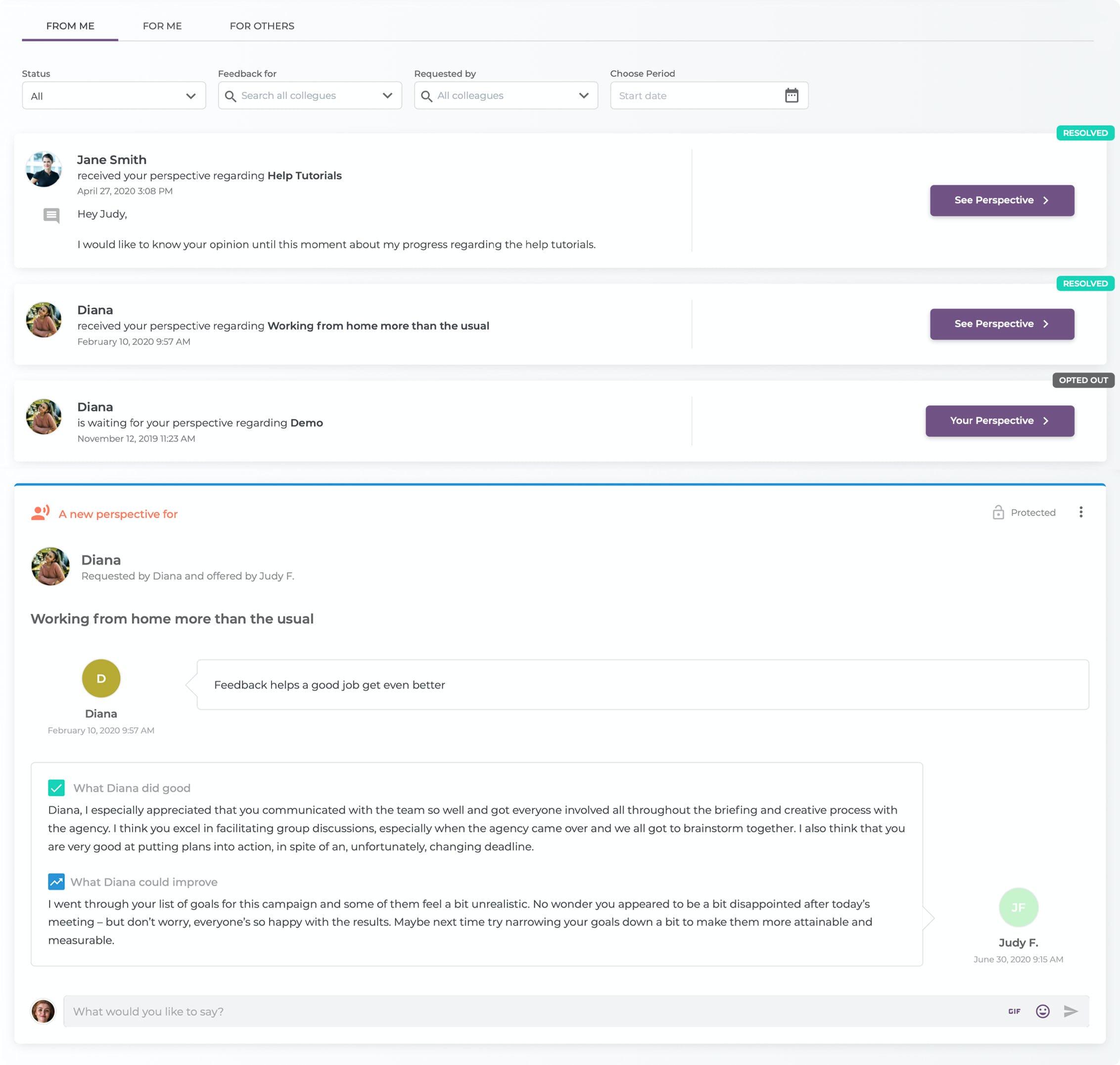 Mirro Software - Feedback