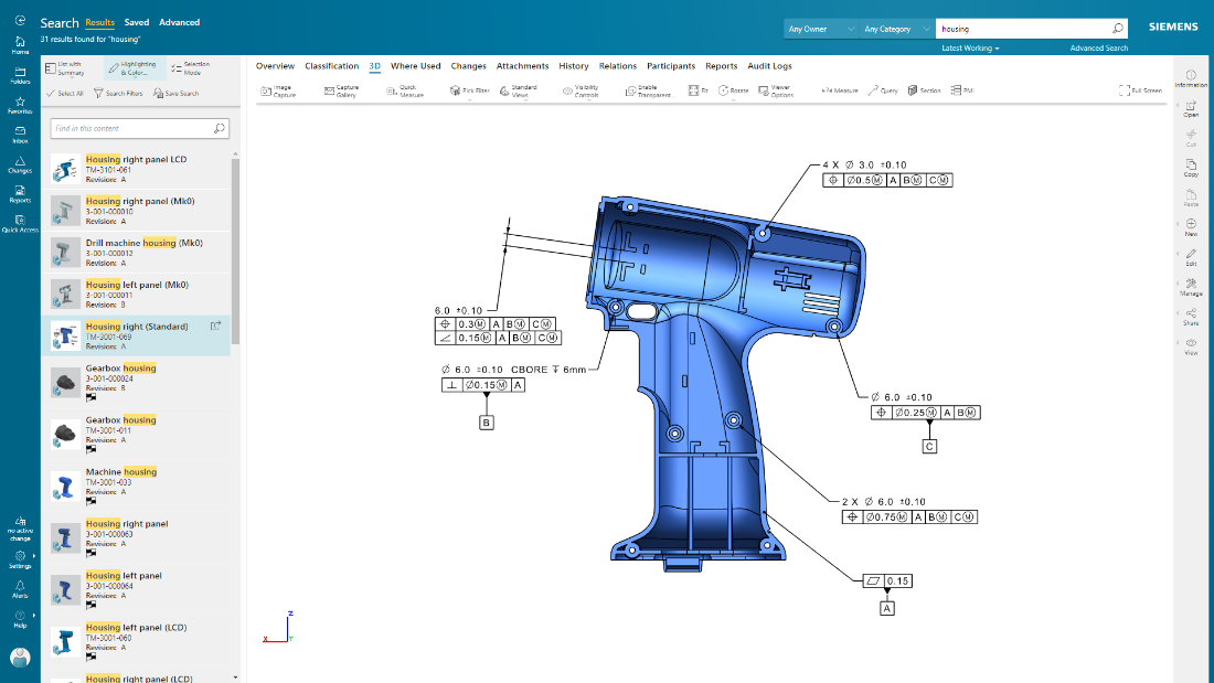 Teamcenter Software - Communicate and express product design intent more effectively, and visualize product data in its entirety using powerful 2D and 3D visualization and markup capabilities.