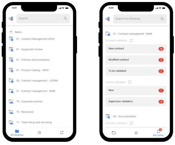 AODocs Document Management search