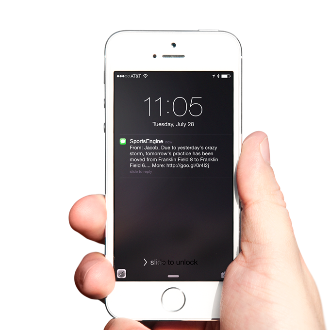 Free team texting means that SMS notifications can be sent to members, athletes or families to ensure important messages are received successfully