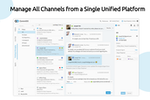 Comm100 Live Chat screenshot: Manage All Channels from a Single Unified Platform