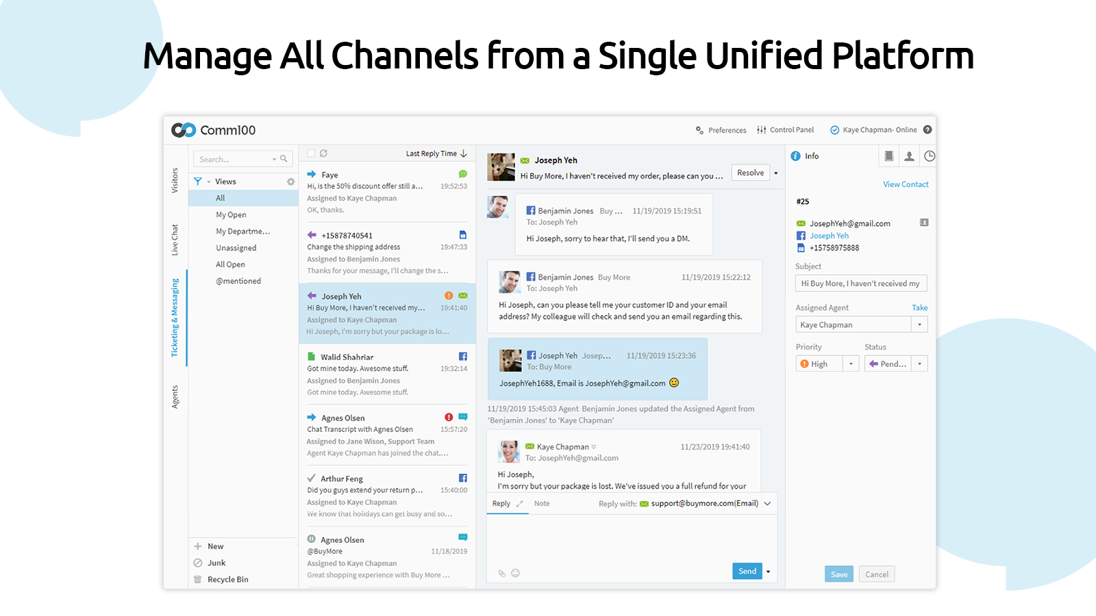 Manage All Channels from a Single Unified Platform