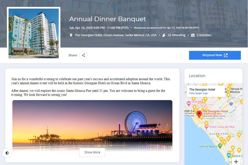 Event Website (sample landing page)