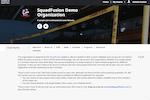 SquadFusion screenshot: SquadFusion allows users to create custom club websites